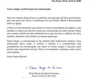 Mensagem para os comunicadores de Dom Devair Araújo da Fonseca